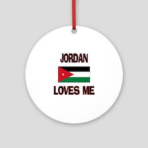 Jordan Loves Me Ornament (Round)