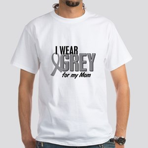 I Wear Grey For My Mom 10 White T-Shirt
