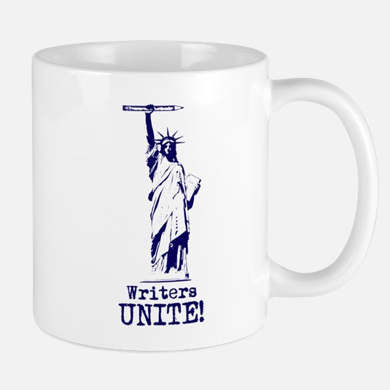 Writers Unite! (Blue) Mug