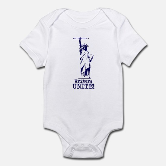 Writers Unite! (Blue) Infant Bodysuit