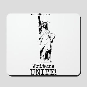 Writers Unite! (Black) Mousepad