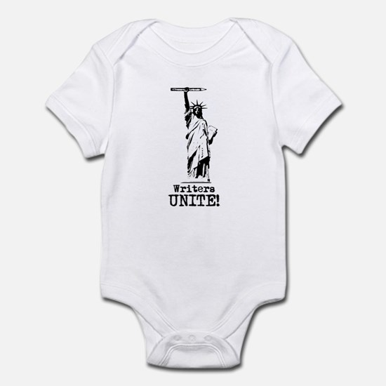 Writers Unite! (Black) Infant Bodysuit