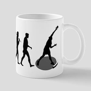 Shot Putting Evolution Mug
