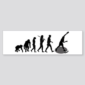 Shot Putting Evolution Bumper Sticker