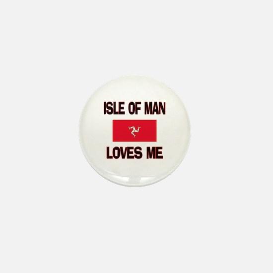 Isle Of Man Loves Me Mini Button