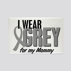 I Wear Grey For My Mommy 10 Rectangle Magnet
