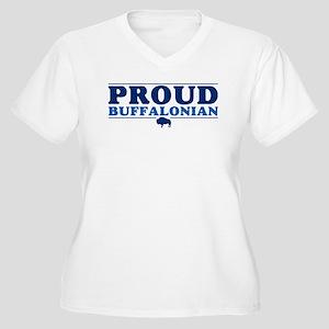 Proud Buffalonian Women's Plus Size V-Neck T-Shirt