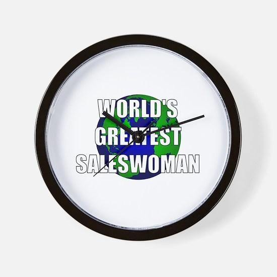 World's Greatest Saleswoman Wall Clock