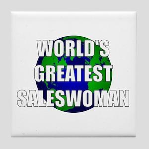 World's Greatest Saleswoman Tile Coaster