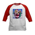 Santa Teddy Kids Baseball Jersey