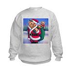 Santa Teddy Kids Sweatshirt