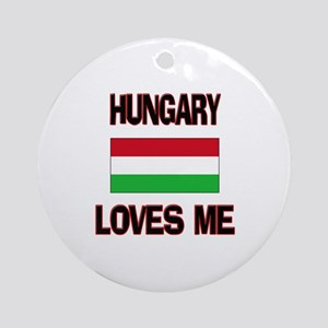 Hungary Loves Me Ornament (Round)