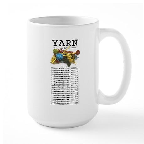 Yarn is a 4 Letter Word Large Mug