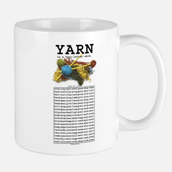 Yarn is a 4 Letter Word Mug