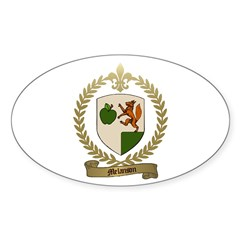 MELANSON Family Crest Oval Decal