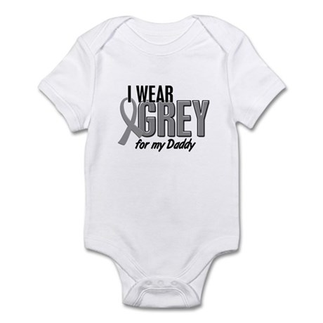 I Wear Grey For My Daddy 10 Infant Bodysuit