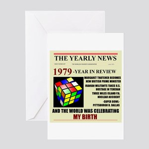 Born In 1979 Birthday Gift Greeting Card