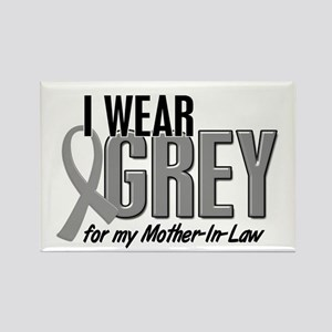 I Wear Grey For My Mother-In-Law 10 Rectangle Magn