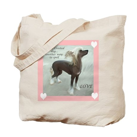 Chinese Crested Love Tote Bag