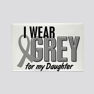 I Wear Grey For My Daughter 10 Rectangle Magnet