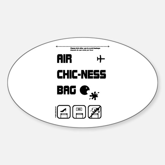 Air Chic-Ness Oval Decal