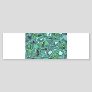 Mosaic of Gemstones Bumper Sticker