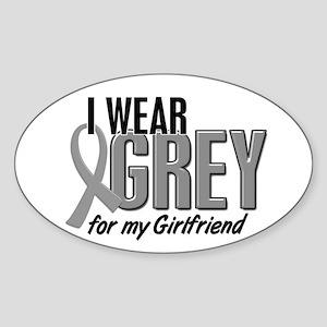 I Wear Grey For My Girlfriend 10 Oval Sticker