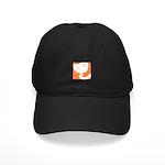 Orange Sleepy Cat Black Cap