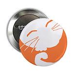 Orange Sleepy Cat Button