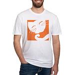 Orange Sleepy Cat Fitted T-Shirt