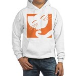 Orange Sleepy Cat Hooded Sweatshirt