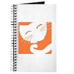 Orange Sleepy Cat Journal