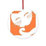 Orange Sleepy Cat Keepsake (Round)