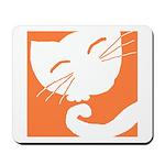 Orange Sleepy Cat Mousepad