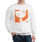 Orange Sleepy Cat Sweatshirt