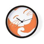 Orange Sleepy Cat Wall Clock