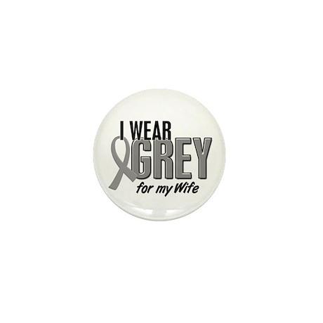 I Wear Grey For My Wife 10 Mini Button