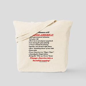 """Obama Will Change America"" Tote Bag"