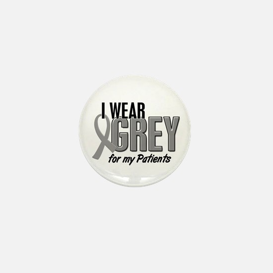 I Wear Grey For My Patients 10 Mini Button