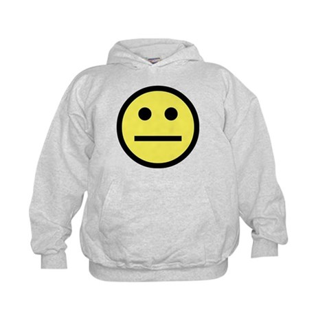 Indifferent Face Kids Hoodie