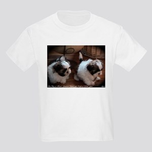 Two Shih Tzu Puppies, Kid's T-shirt by elpace