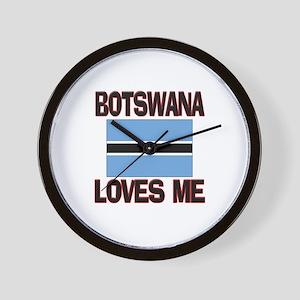 Botswana Loves Me Wall Clock