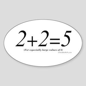 2+2=5 - Oval Sticker