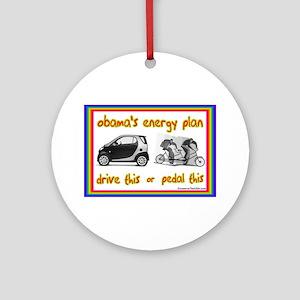 """Obama's Energy Plan"" Ornament (Round)"