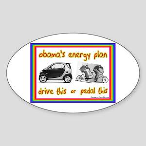 """Obama's Energy Plan"" Oval Sticker"