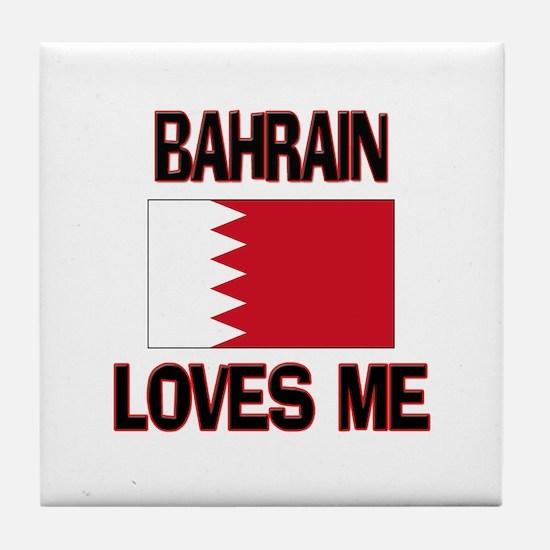 Bahrain Loves Me Tile Coaster