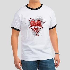 Heart Yemen Ringer T