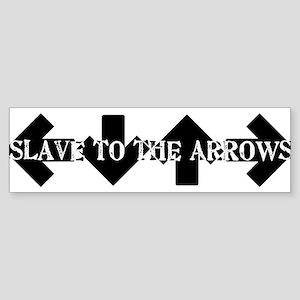Slave To The arrows DDR ITG Bumper Sticker