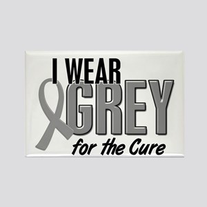 I Wear Grey For The Cure 10 Rectangle Magnet