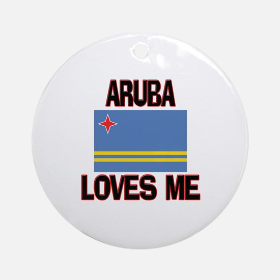 Aruba Loves Me Ornament (Round)